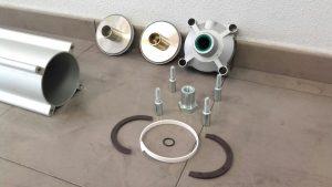 piezas para montaje de cilindro neumático
