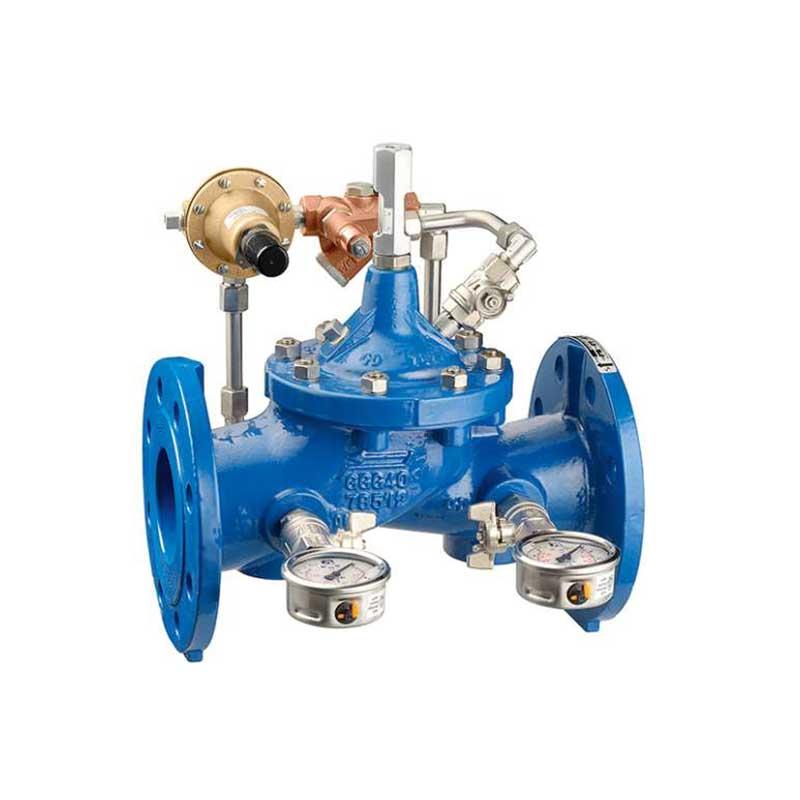 Limitadora de presión con manómetros Sumifluid